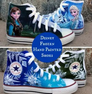 Disney Frozen Hand Painted Shoes