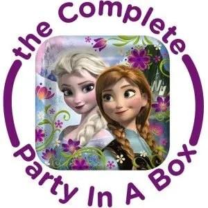 Custom Frozen Birthday Party Supply Kit