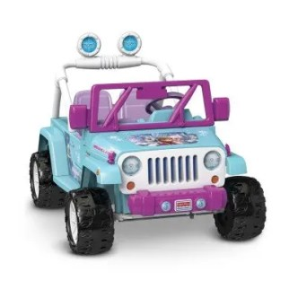 frozen battery operated jeep