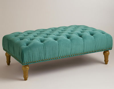Marcelle Tufted Ottoman Everything Turquoise