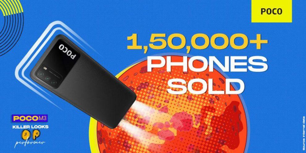 POCO M3 mega phones sold
