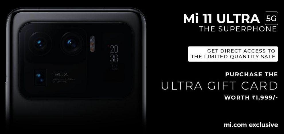 Mi 11 Ultra limited quantity sale