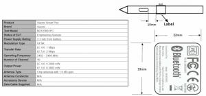 Xiaomi Smart Pen MiPad 5 FCC