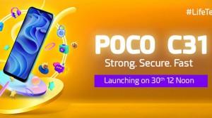POCO C31 India launch date 300x168 c