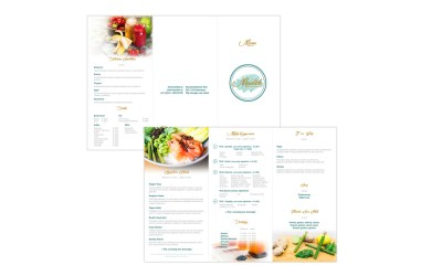 Flyer/Menukaart – Maideh Healty Bar