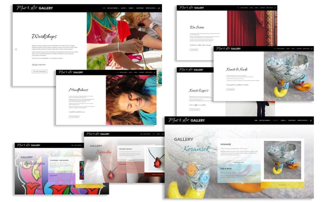 Webdesign & ontwikkeling Meet & Art Gallery
