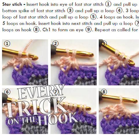 a peek at left-handed star stitch