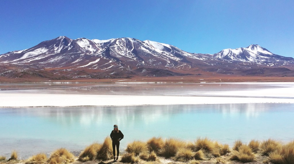Mountain View of Laguna Hedionda in Bolivia