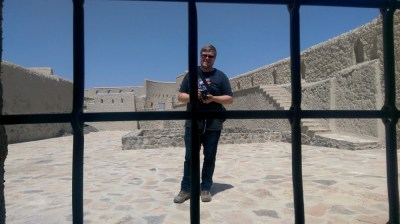 Marc Möllmann im Bahla Fort im Oman