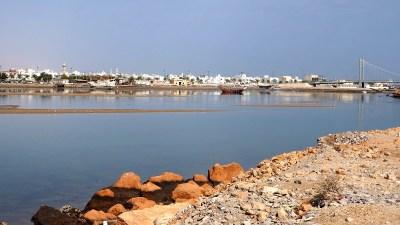 Blick über Sur im Oman