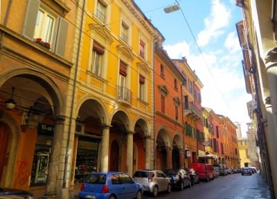 Straße in Bologna