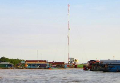 Schwimmendes Dorf auf dem Tonle Sap