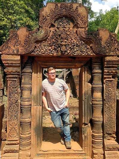 Marc Möllmann in Banteay Srei