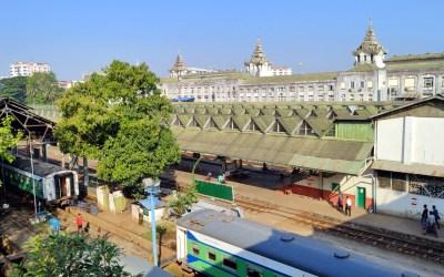 Blick auf die Central Station von Yangon