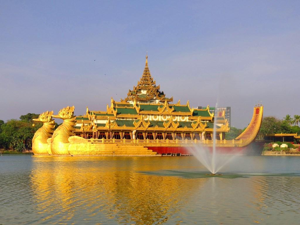 Karaweik Hall in Yangon