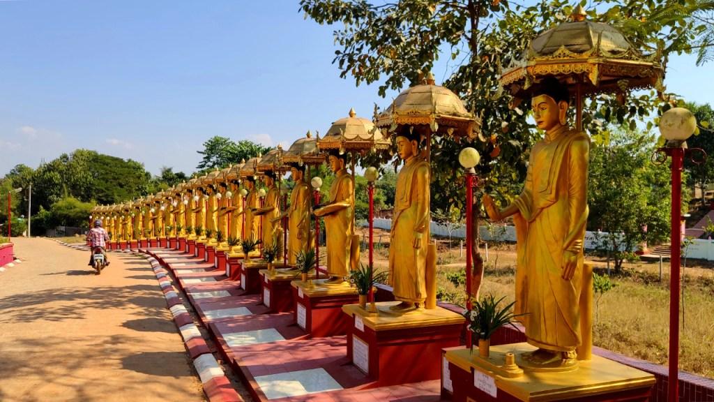 Buddhastatuen in Bago