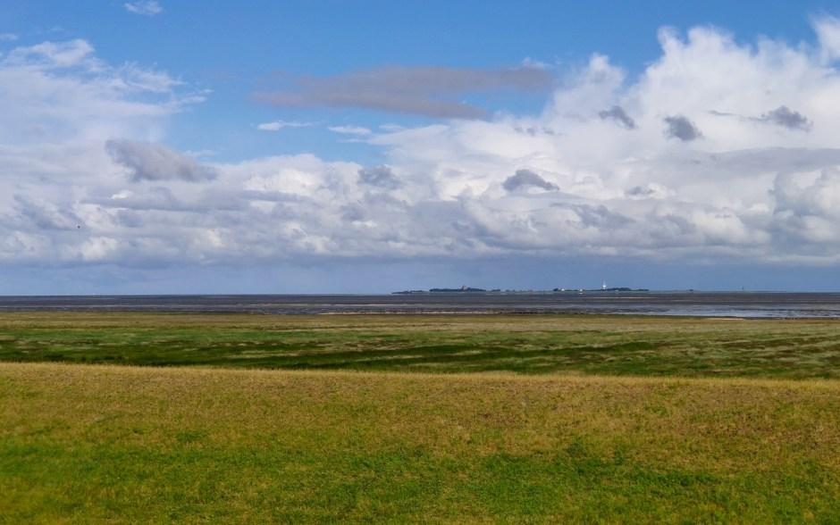 Blick von Cuxhaven Duhnen nach Neuwerk
