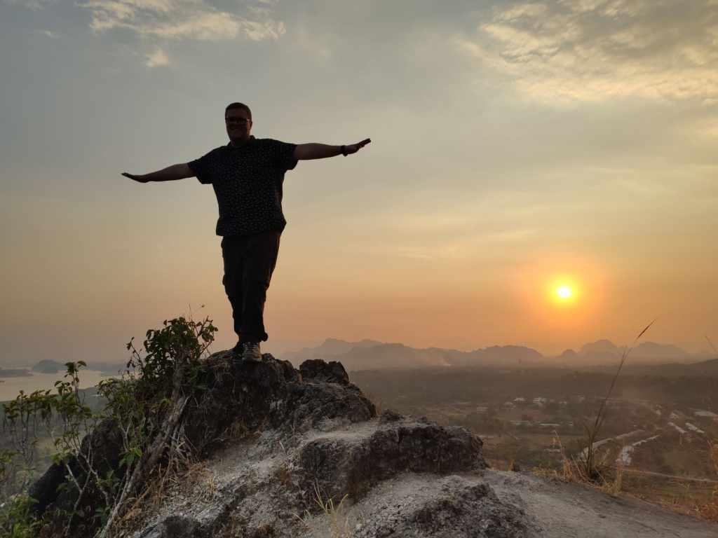 Sonnenuntergang am Mount Papu