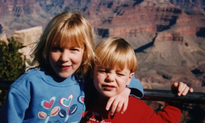 Our second visit to the Grand Canyon, when I was six and the brother was three.