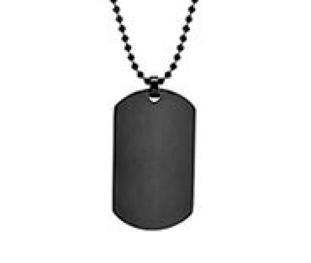 Black Plated Large Stainless Steel Dog Tag Get It Engraved