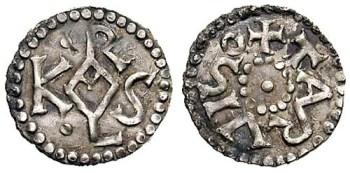 Coin from Carolingian kingdom of Italy