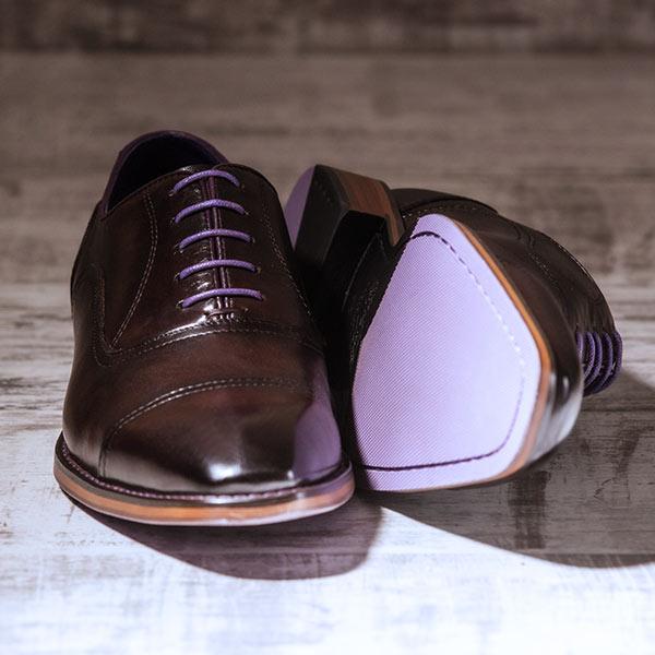 Dark Brown Italian Leather Oxford - Falcon 4
