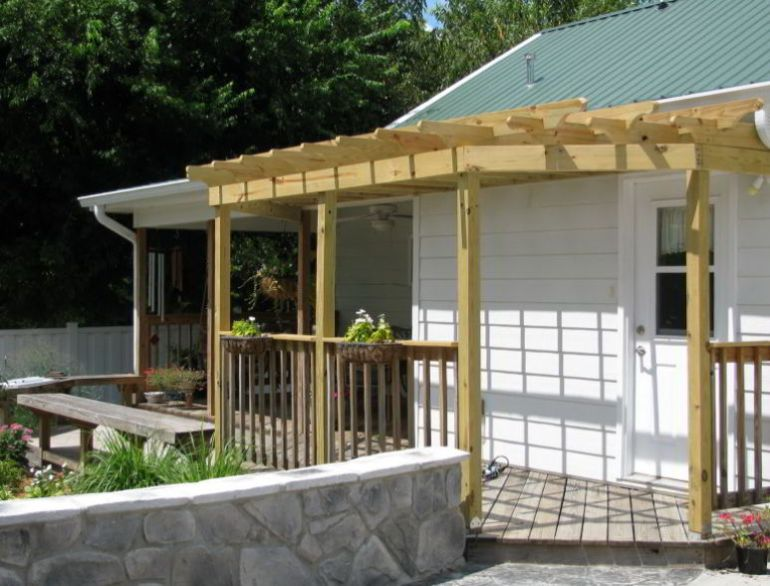 Front Deck with a Pergola