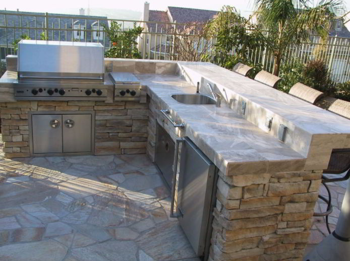 Modern grill patio