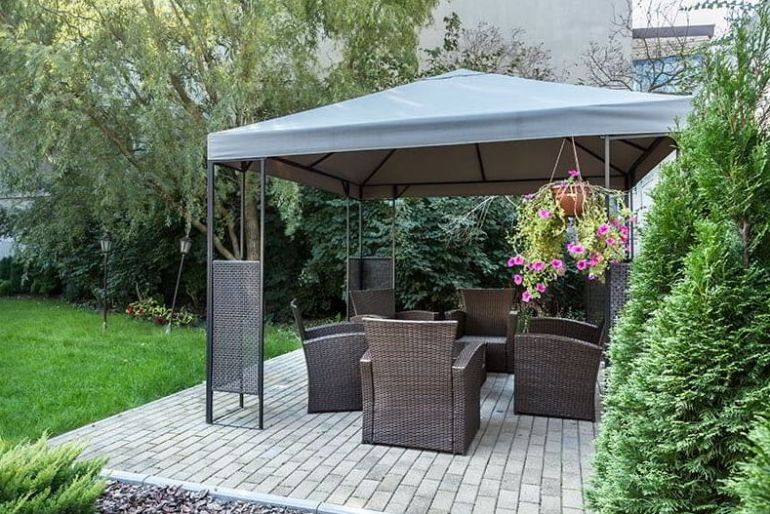 Semipermanent gazebo idea