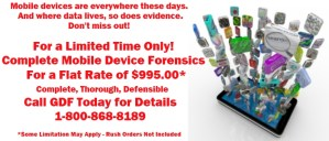 Mobile Device Forensics Limited Time Flat Rate Offer