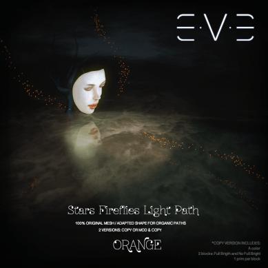 E.V.E (V) Stars Fireflies lights path ORANGE