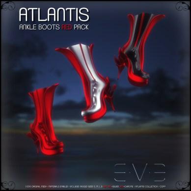 E.V.E (V) ATLANTIS Ankle Boots Red Pack