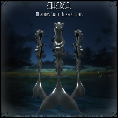 E.V.E (V) Ethereal Mermaid Suit Black Chrome