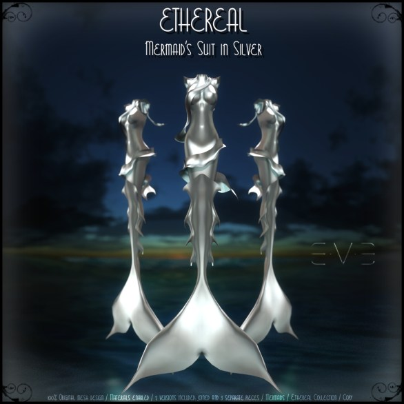 E.V.E (V) Ethereal Mermaid Suit Silver