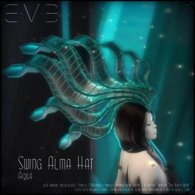 E.V.E (V) Swing Alma Hat AQUA