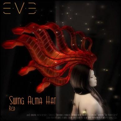 E.V.E (V) Swing Alma Hat RED