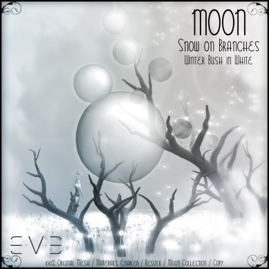 E.V.E (V) MOON Snow on Branches Winter Bush White 01