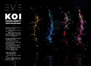 E.V.E {V} KOI Square Confetti Path Color Pack