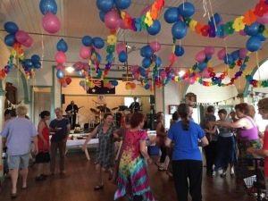 Dancing at Mitchells Island Community Hall