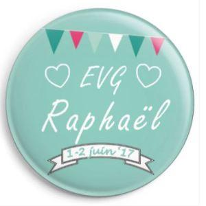 20 badges personnalisés EVG