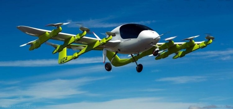 Cora is an electric VTOL aircraft designed to carry two passengers about 60 miles at a speed of 110 ...mph