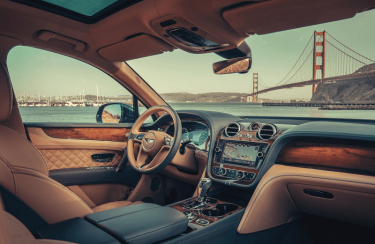 Production the first Bentayga Hybrid Interior