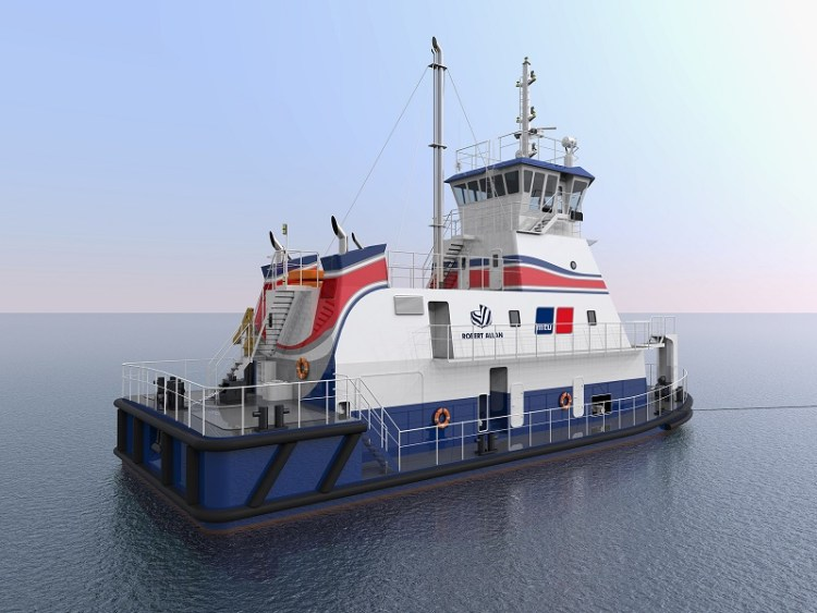 Rolls-Royce and Robert Allan present the world's first LNG-powered shallow-water push boat Gas_Pushboat_quarter-stern