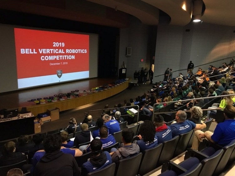 Students Shine at Third Annual Bell Vertical Robotics Competition -3
