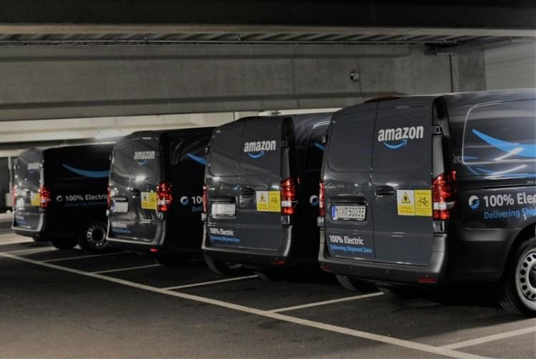 Zuverlässig zugestellt: Mercedes-Benz eVito fahren lokal emissionsfrei für Amazon in München Reliable deliveries: Locally emission-free Mercedes-Benz eVito vehicles on the road for Amazon in Munich