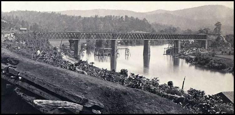Former RR bridge and Etowah Station
