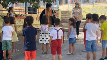 Από τα Δημοτικά σχολεία 18ο & 19ο Χαλκίδας ευχήθηκε η Δήμαρχος Βάκα για όλους τους μαθητές