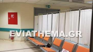Νέο Νοσοκομείο Χαλκίδας Παραβάν κλινική Covid 19
