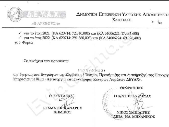 Απόφαση απόρριψης κόλαφος της ελεγκτικής επιτροπής σε ανάθεση σύμβασης της ΔΕΥΑΧ