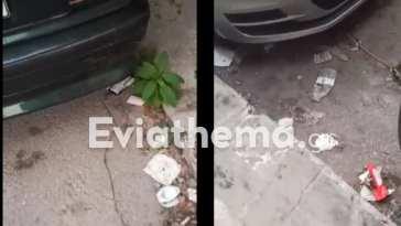 Εικόνες ντροπής σε κεντρική οδό της Χαλκίδα